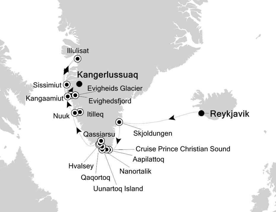 Map for Following the Route of the Norse