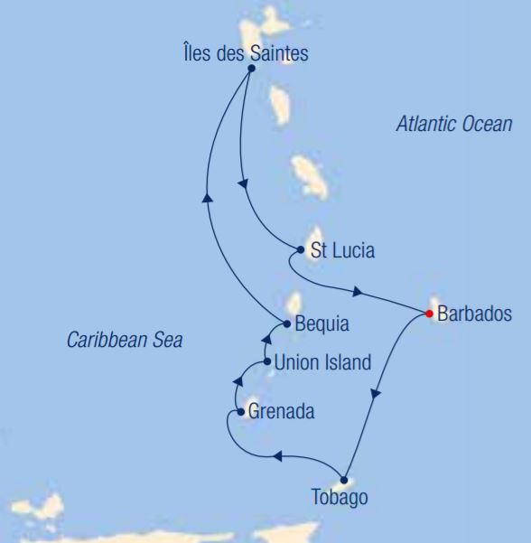 Map for Treasures of the Grenadines