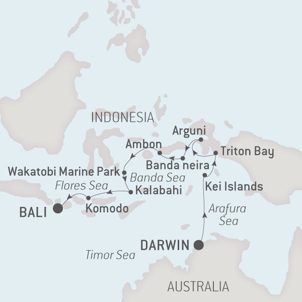 Map for From Australia to Indonesia