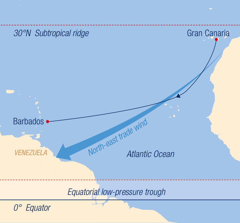 Map for Across the Atlantic: From Gran Canaria to Barbados