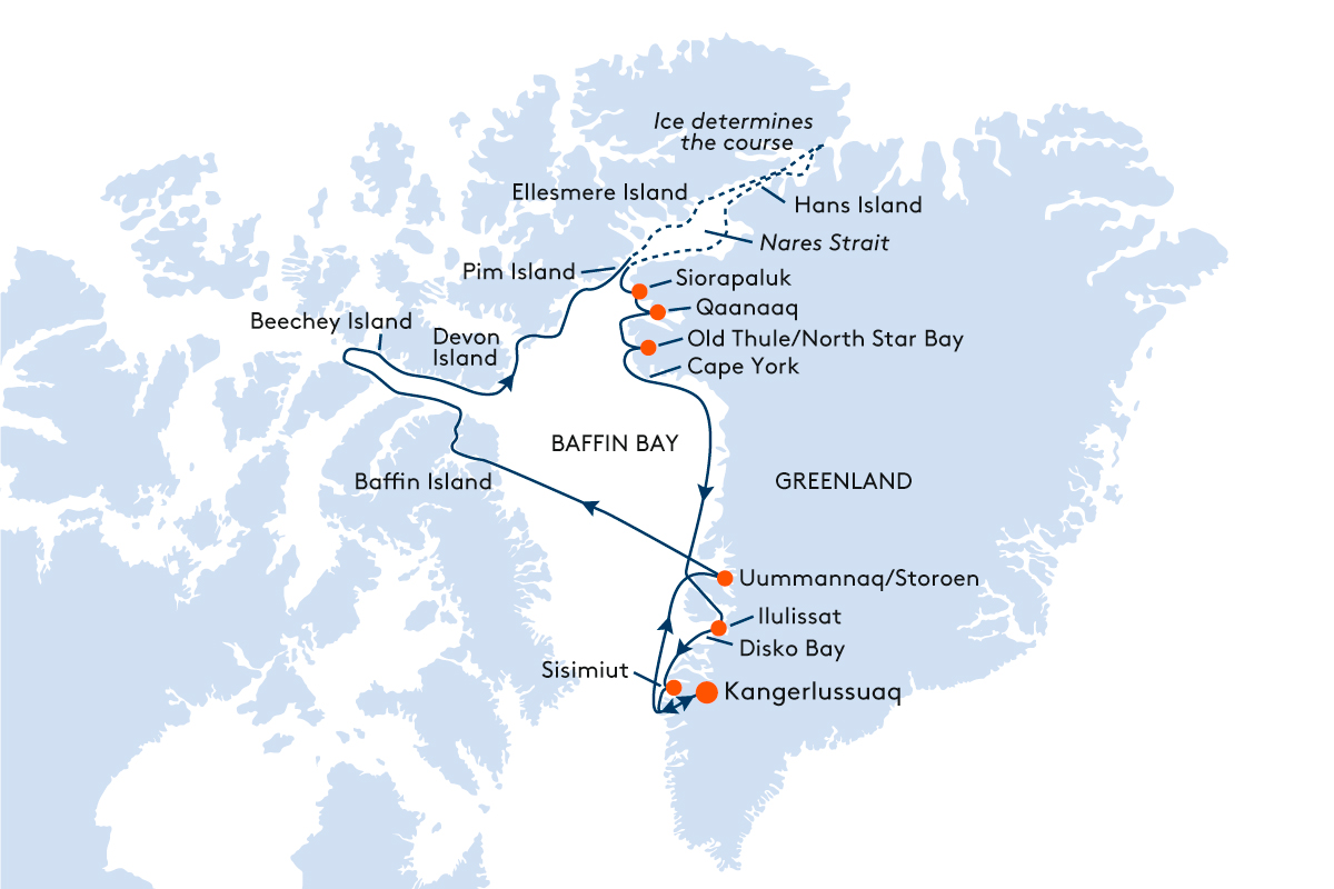 Map for Expedition to the North Pole - Enthralling Expedition Experiences