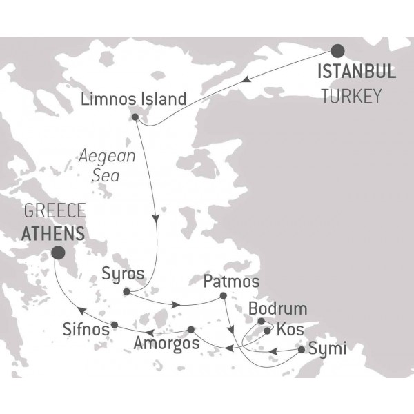 Map for In the Heart of the Aegean Sea