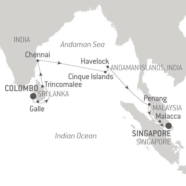 Map for Between India and Asia