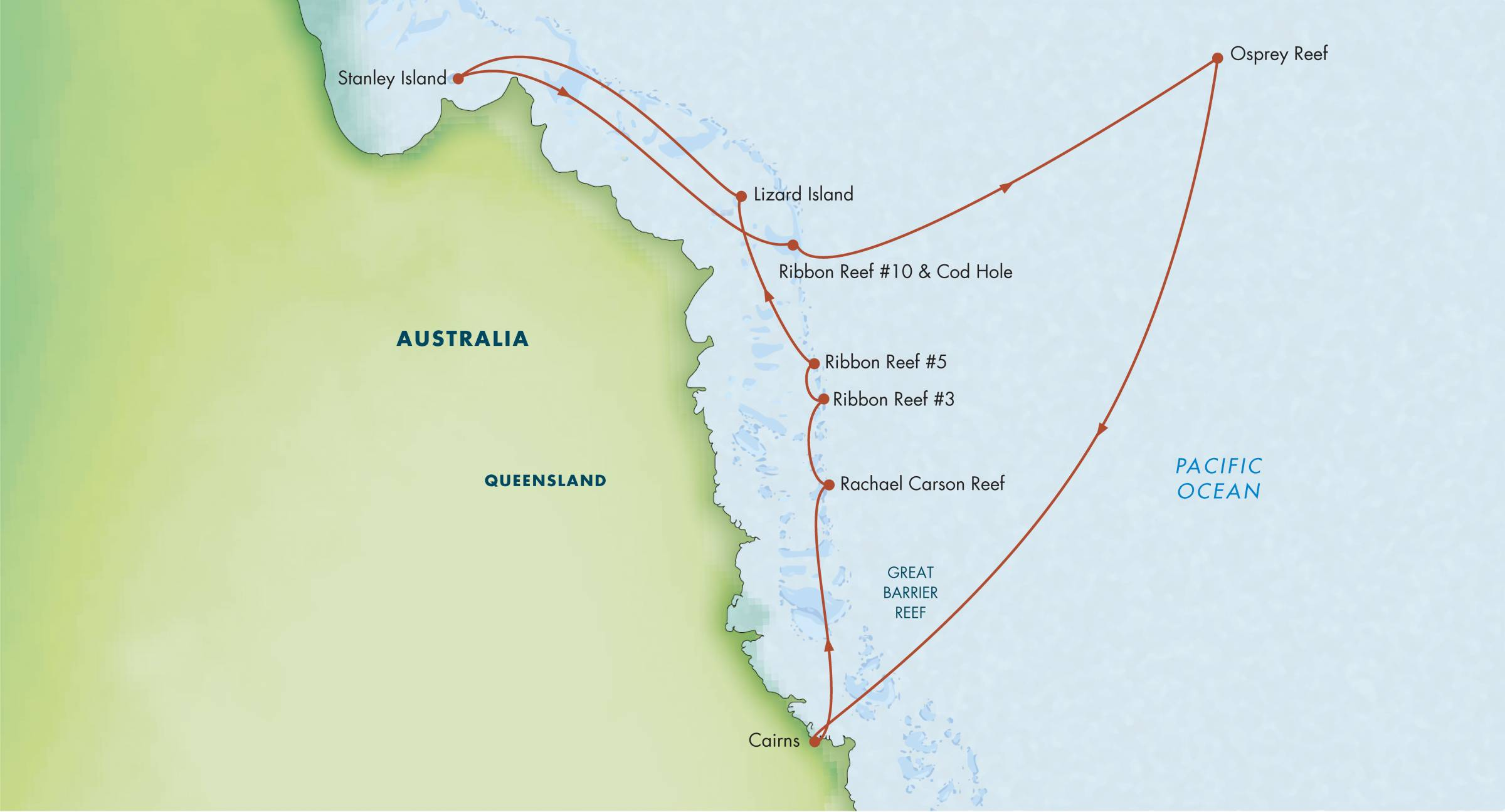 Map for Best of the Great Barrier Reef