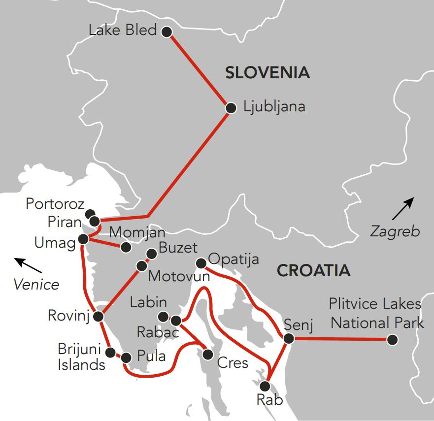 Map for Idyllic Istria
