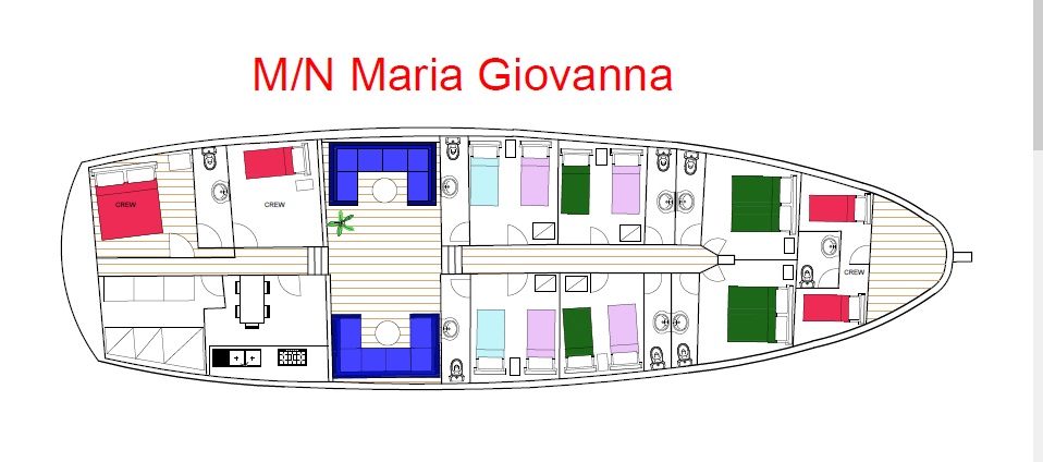 Cabin layout for Maria Giovanna
