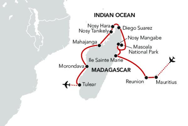 Map for Marvels of Madagascar