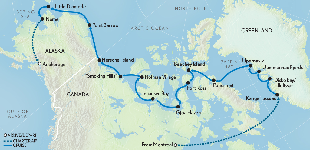 Map for The Northwest Passage: From Greenland to the Bering Sea
