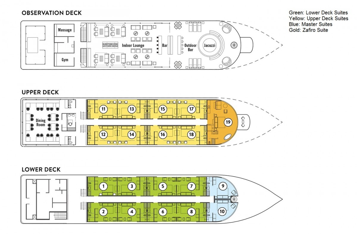 Cabin layout for Zafiro