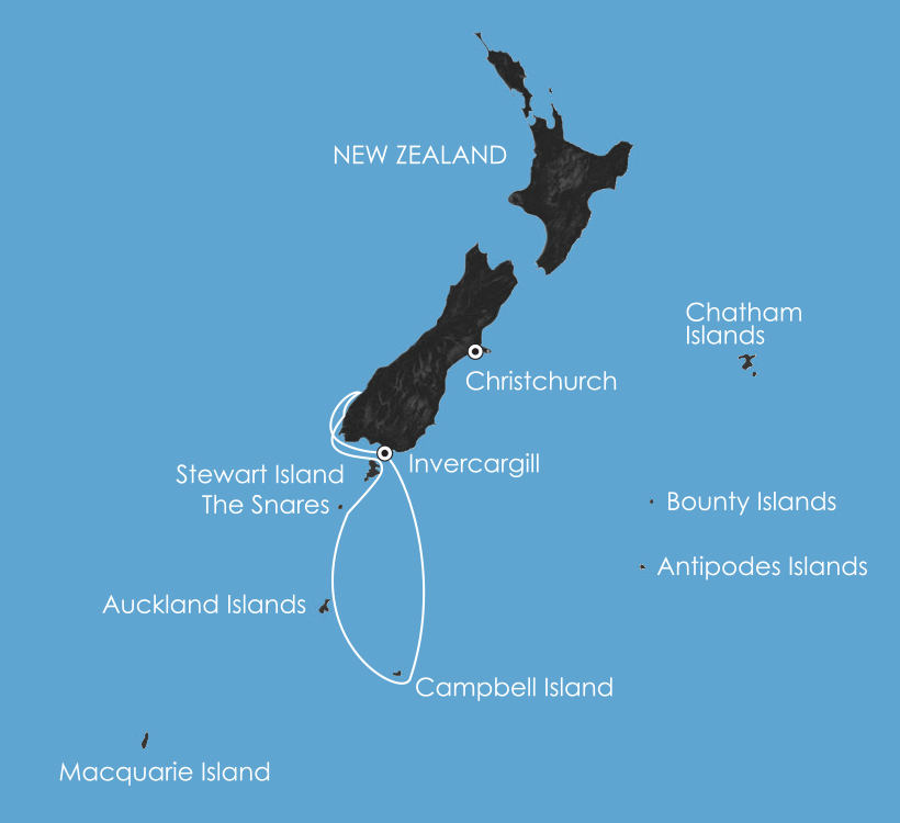 Map for Beyond Fiordland: New Zealand's Wildest Islands 2019