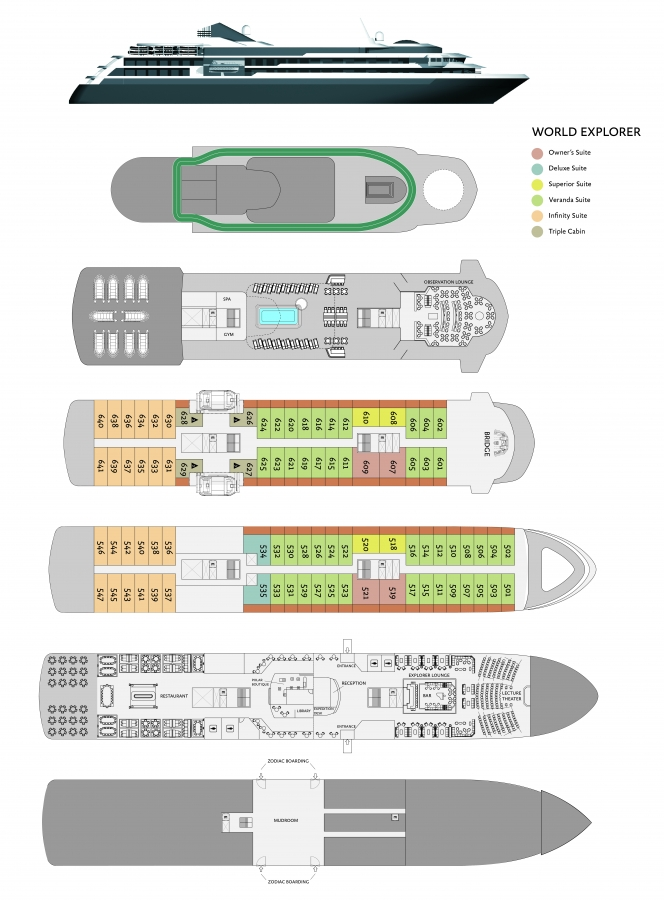 Cabin layout for World Explorer