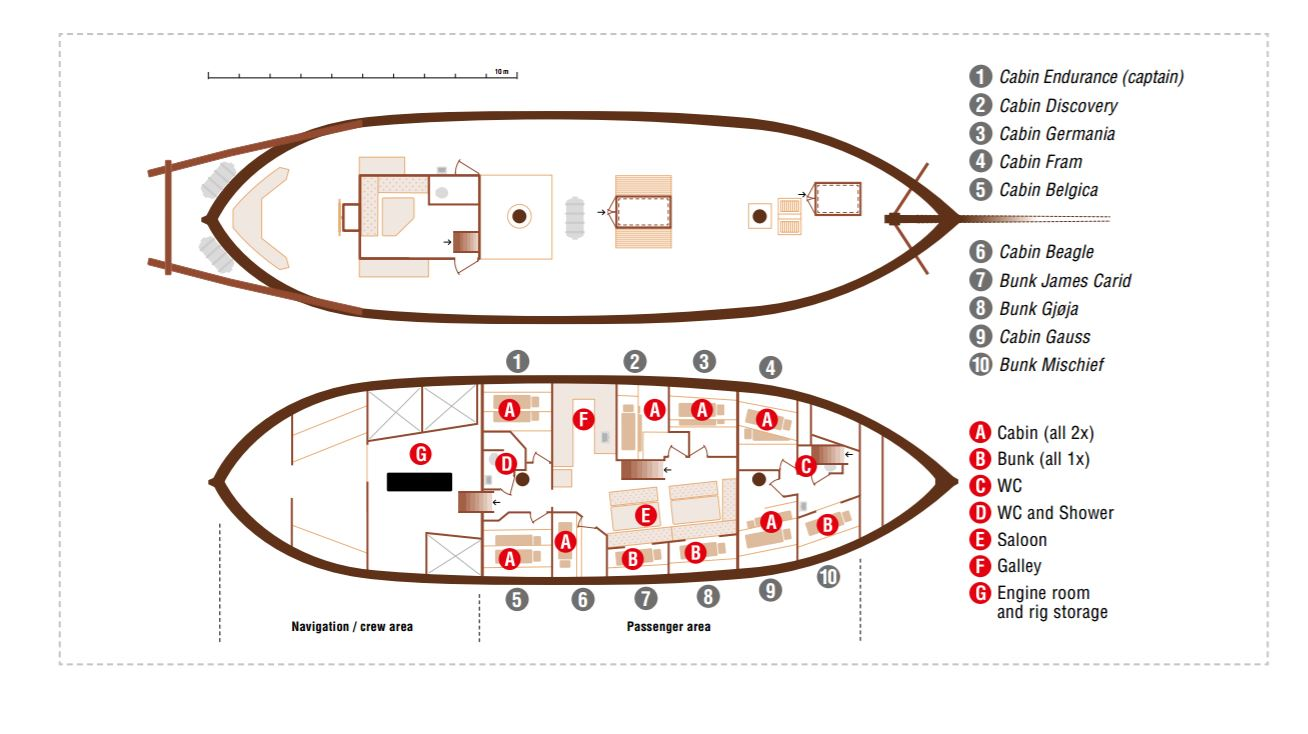 Cabin layout for Opal