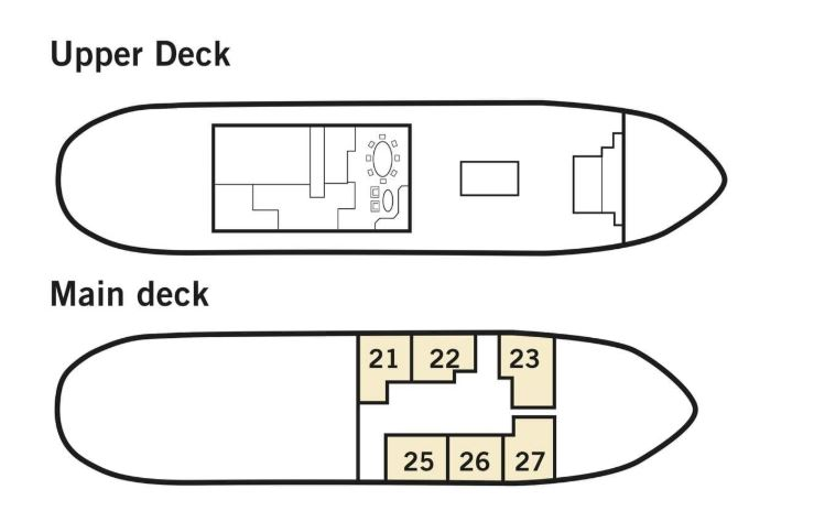 Cabin layout for Stockholm